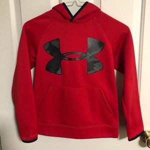 Under Armour Cold Gear Red Hoodie Youth Small 7-8